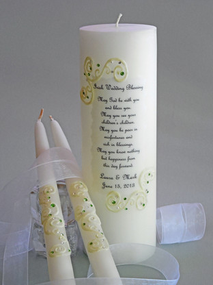 Our elegant Irish/Celtic unity candles will make your day special!