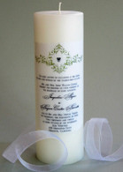 Wedding Invitation Candle - Scalloped Edge