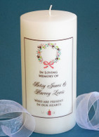Christmas Cone Wreath Memorial Candle