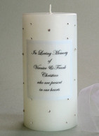 Clear Swarovski Crystal Memorial Candles