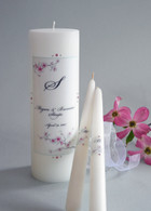 Watercolor Cherry Blossom Wedding Unity Candles