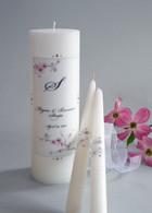 Cherry Blossom Wedding Unity Candles
