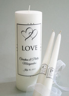 Duet Heart Wedding Unity Candles