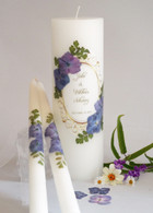 Vintage Purple Hydrangea Wedding Unity Candles