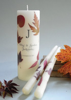 Autumn Leaf Wedding Unity Candles