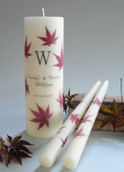 Japanese Maple Wedding Unity Candles