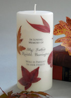 Autumn Leaf Memorial Candle