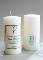 SUDC Ribbon Heart Memorial Candle