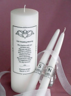 Irish Cladaugh wedding unity candles made with Swarovski crystals.