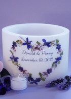 Violet Bouquet Heart Large Lantern