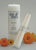 Mr. & Mrs. Black Wedding Unity Candles