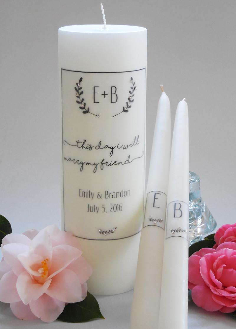 Laurel Wedding Unity Candles