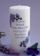 Violet Bouquet Memorial Candles