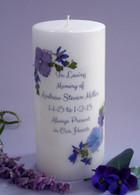 Violet Bouquet Memorial Candles