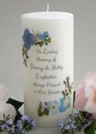 Blue Bouquet Memorial Candles