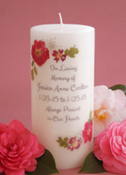 Red Bouquet Memorial Candles