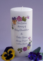 Pansy Memorial Candles