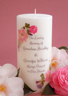 Pink Bouquet Memorial Candles