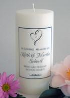 Ribbon Heart Memorial Candle