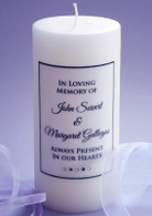 Simple Script Purple Memorial Candle