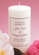 Simple Script Pink Memorial Candle