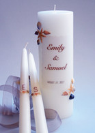 Sea Shell Wedding Unity Candles - 2 Corner