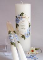 Vintage Blue Hydrangea Wedding Unity Candles
