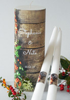 Fall Rustic Wood Wedding Unity Candle Set