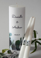 Eucalyptus Wedding Unity Candle Set