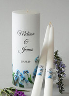 Forget Me Not Wedding Unity Candle Set