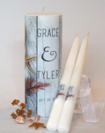 Sea Shore Wedding Unity Candle Set