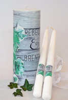 Ivy Wedding Unity Candle Set
