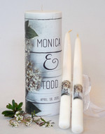 Bridal Wreath Wedding Unity Candle Set