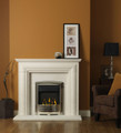 Ellerby Limestone Fireplace - Gallery Fireplace Collection