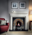 Large Crown Cast Iron Insert - Gallery Fireplace Collection