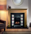 Toulouse Tiled Cast Iron Insert - Gallery Fireplace Collection