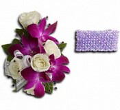 Fancy Orchids and Roses Wristlet