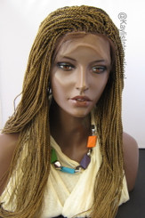 Fully hand braided lace front wig - Hope color 27/4 in 22""
