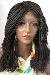 Fully hand braided lace front wig - Linda color 2 in 12""
