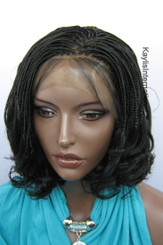 Fully hand braided lace front wig - Linda color 1 in 6""