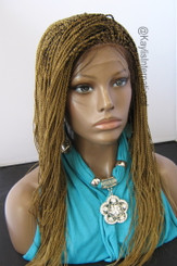 Fully hand braided lace front wig Hope color #27  in 17""
