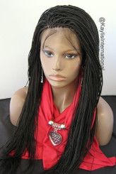Fully hand braided 360 lace wig - Hannah color 2 in 22""