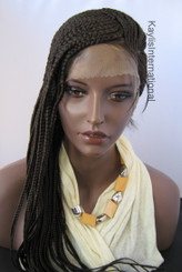Fully hand braided lace front wig - Casey color #2 in 20""