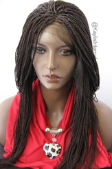 Fully hand braided lace front wig - Hope #99J in 17""