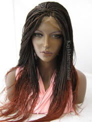 Fully hand braided lace front wig - Hannah color Ombre 350  in 22""