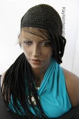 Fully hand braided lace front wig - Amber color 1 in 20""