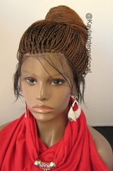 Fully hand braided 360 lace wig - Hannah color 30/4 in 22""