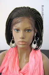 Fully hand braided Cornrow lace front wig - Stacy #2 in 6""