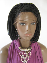 Fully hand braided wig - Short Bob Cornrow  Laura #2 in 6