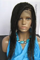 Fully hand braided 360 lace wig - Hannah color #2 in 16""